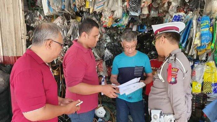 Satlantas Polres Karimun Berikan Himbauan ke Toko Onderdil Motor, Larang Jual Knalpot Racing