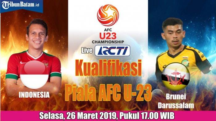 Jadwal Timnas U23 Indonesia vs Brunei Selasa (26/3) 17.00 WIB Live RCTI, Indra Sjafri Rotasi Pemain