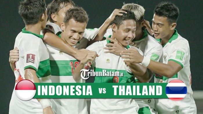 Jadwal Timnas Indonesia vs Thailand di kualifikasi Piala Dunia 2022, Kamis (3/6/2021) pukul 23.45 WIB
