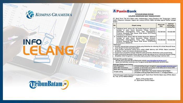 Informasi Pengumuman Lelang PT Bank Panin Tbk, 13 November 2018