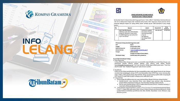 Informasi Pengumuman Lelang PT Bank Rakyat Indonesia (Persero) Tbk, 15 November 2018
