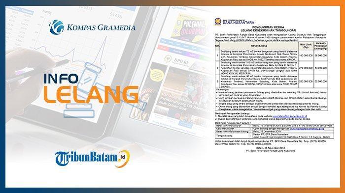Informasi Pengumuman Lelang PT. Bank Perkreditan Rakyat Dana Nusantara, 28 November 2018