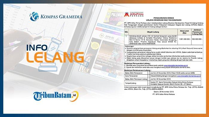 Informasi Pengumuman Lelang PT. BPR Artha Prima Perkasa 9 November 2018
