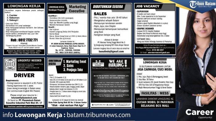 LOKER BATAM HARI INI - 8 Informasi Lowongan Kerja Terbaru Hari Ini di Batam. Andakah yang Dicari?