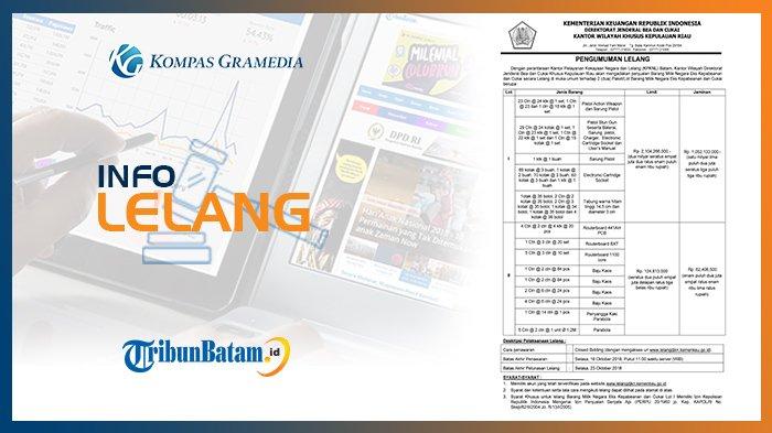 Informasi Pengumuman Lelang Kanwil Dirjen Bea dan Cukai Khusus Kepulauan Riau, 11 Oktober 2018