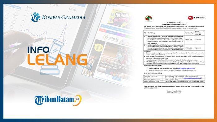 Informasi Pengumuman Lelang KSP Sahabat Mitra Sejati Batam 27 Desember 2018