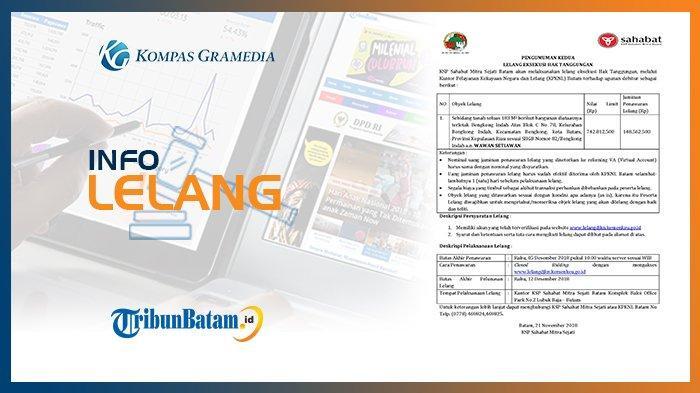 Informasi Pengumuman Lelang KSP Sahabat Mitra Sejati Batam, 21 November 2018