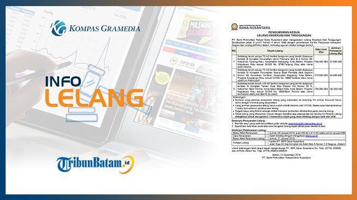 Informasi Pengumuman Lelang PT Bank Perkreditan Rakyat Dana Nusantara 21 Desember 2018