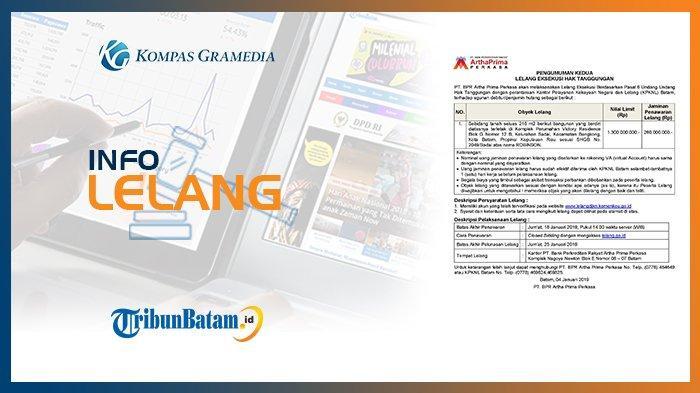 Informasi Pengumuman Lelang PT. BPR Artha Prima Perkasa 4 Januari 2019
