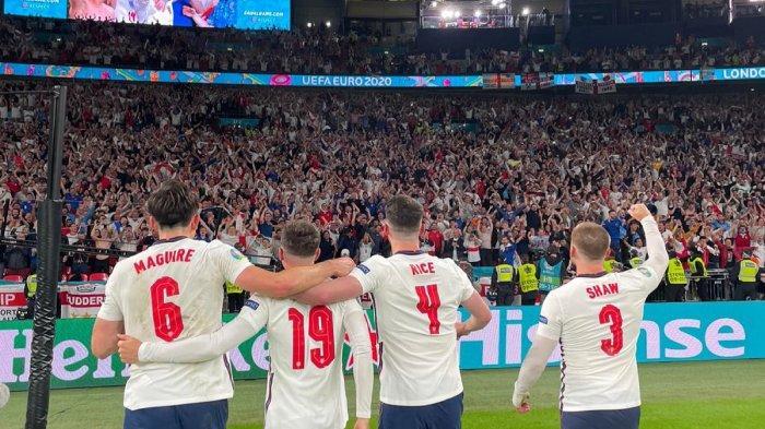 Inggris ke Final Piala Eropa 2020, Southgate & Lagu Football Is Coming Home Menggema di Wembley