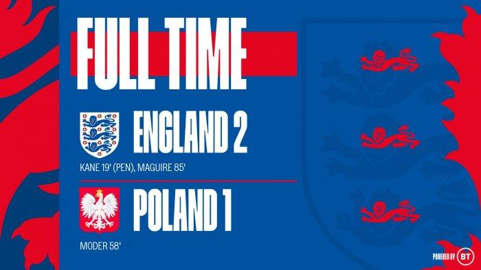 Hasil Inggris vs Polandia, Harry Kane dan Harry Maguire Cetak Gol, Inggris Menang
