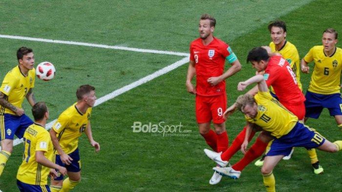Swedia vs Inggris - Dua Gol Sundulan Bawa Three Lions ke Semifinal