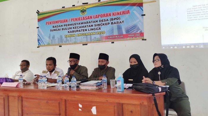 Inspektorat Lingga Apresiasi BPD Desa Sungai Buluh, Laporan Pembangunan Mulus