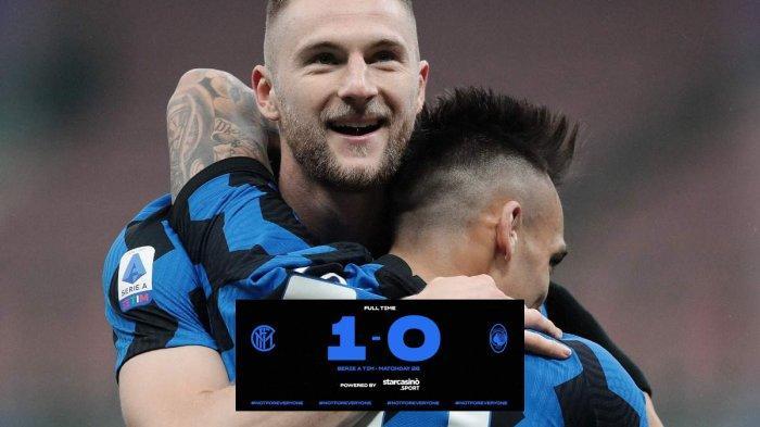 Hasil Inter Milan vs Atalanta - Inter Milan menang tipis 1-0 atas Atalanta di pekan 26 Liga Italia 2020-2021, Senin (8/3/2021) malam atau Selasa dinihari WIB