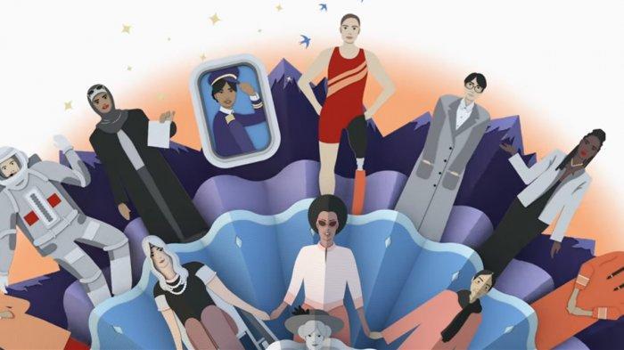 International Women's Day, Google Doodle Hadirkan Video Animasi Kertas Mandala 3D