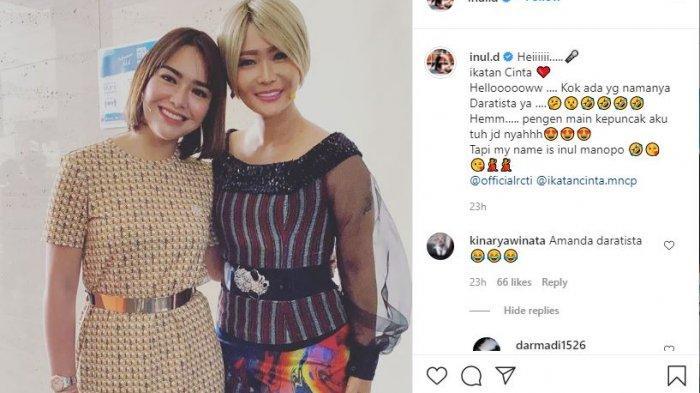 Inul Daratista Foto Bareng Amanda Manopo, Mendadak Singgung Soal Puncak Lokasi Ikatan Cinta