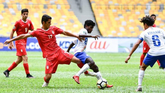AFC U16 2018- Timnas U16 Iran Makin Sempoyongan, Ditahan Imbang India Tanpa Gol