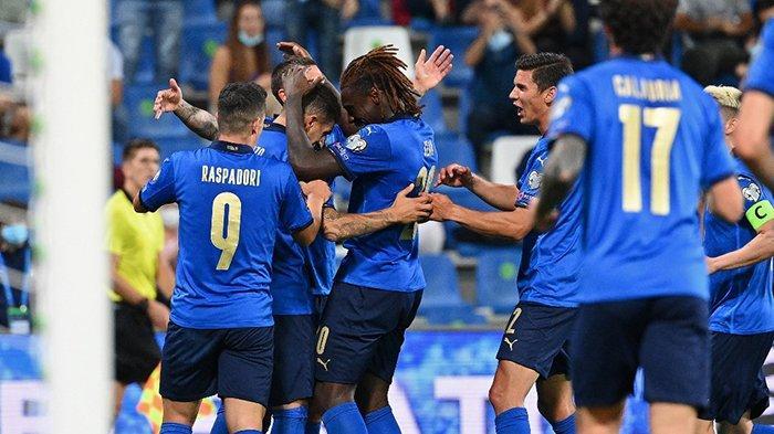 Hasil Italia vs Lithuania, Roberto Mancini Lakukan Rotasi, Moise Kean Cetak 2 Gol, Italia Menang