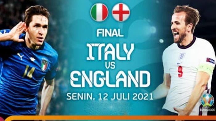 Susunan Pemain Italia vs Inggris di Final EURO 2020, Adu Tajam Harry Kane-Immobile