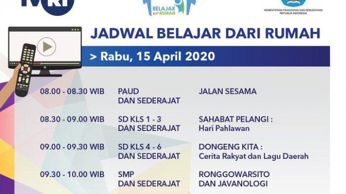 Jadwal Belajar dari Rumah TVRI Rabu 15 April 2020, Mulai Hari Pahlawan, Ronggowarsito, Noken Papua