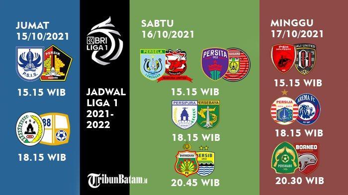Jadwal Siaran Langsung BRI Liga 1 2021-2022, Arema FC vs Persija hingga Laga Persib