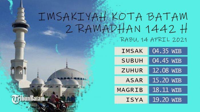 Jadwal Imsakiyah Batam 2021, Info Buka Puasa 2 Ramadhan 1442 H Adzan Magrib 18:11 WIB