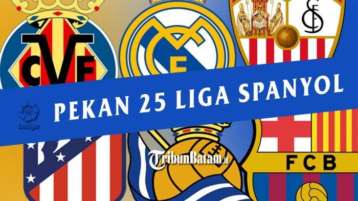 Jadwal Liga Spanyol Pekan 25, Sevilla vs Barcelona, Villarreal vs Atletico, Real Madrid vs Sociedad