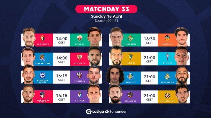 Jadwal Liga Spanyol Akhir Pekan Ini Atletico Madrid vs Eibar, Getafe vs Real Madrid