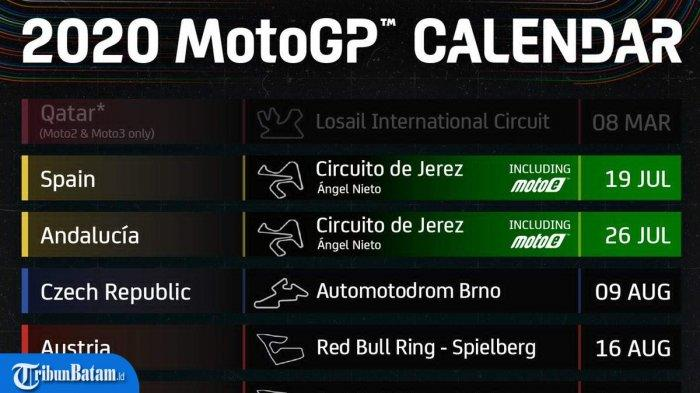 UPDATE Jadwal MotoGP 2020 Resmi Diumumkan, Dimulai dari GP Spanyol 19 Juli, Valentino Rossi Lega