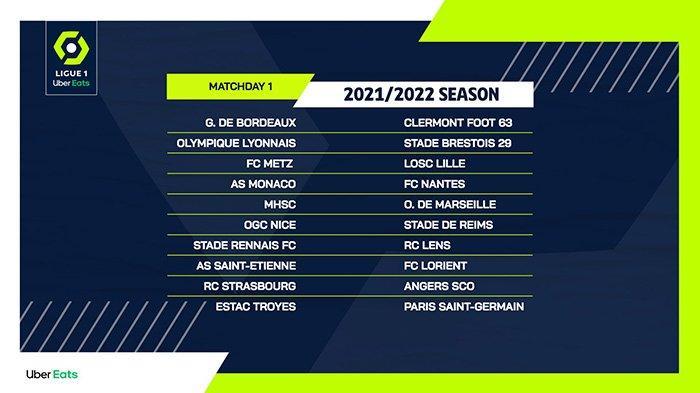 Jadwal Ligue 1 Liga Prancis 2021-2022, Pekan 1 PSG Lawan Klub Promosi Troyes, Metz vs Lille