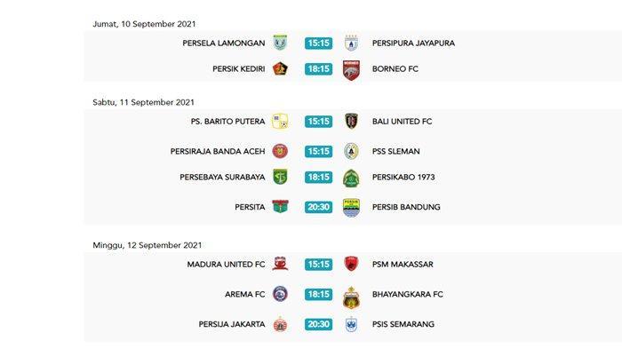 Jadwal Pekan 2 BRI Liga 1 2021-2022 seperti dikutip dari situs resmi Liga Indonesia Baru