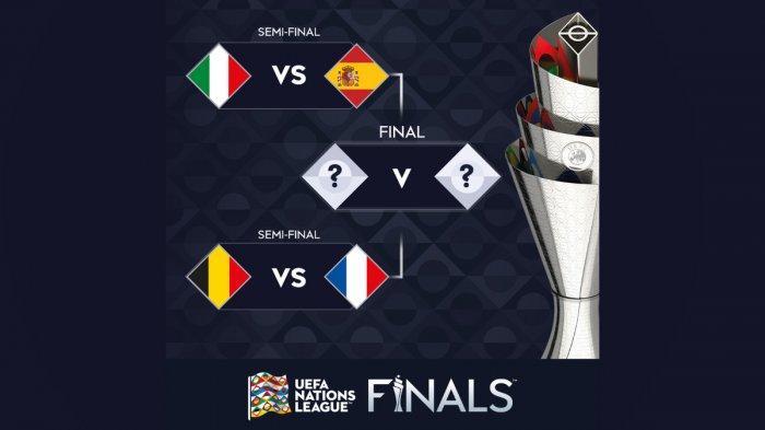 Jadwal Finals Four UEFA Nations League 2020/2021 - SF 1 Italia vs Spanyol, SF 2 Belgia vs Prancis