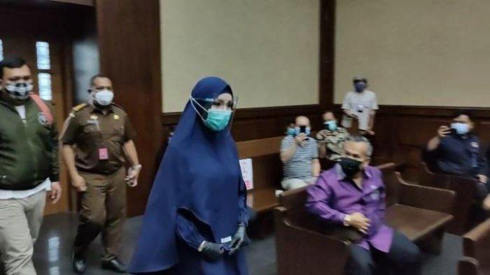 Jaksa Pinangki menghadiri sidang lanjutan di Pengadilan Tipikor Jakarta, Rabu (21/10/2020)