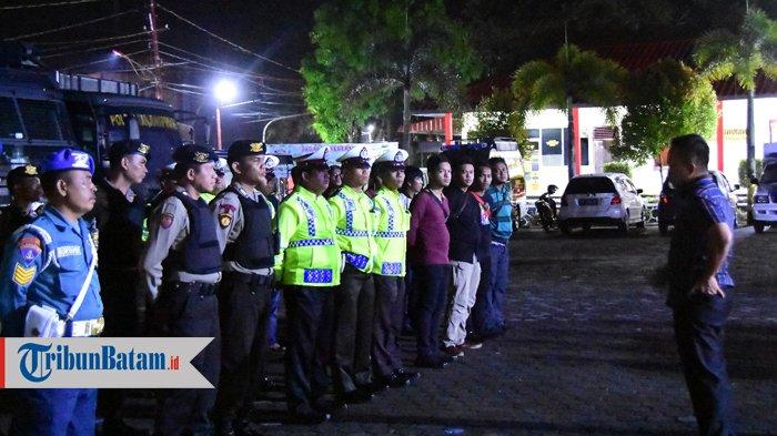 Patroli Gabungan Cipta Kondisi di Tanjungpinang. Petugas Temukan Minuman Tuak