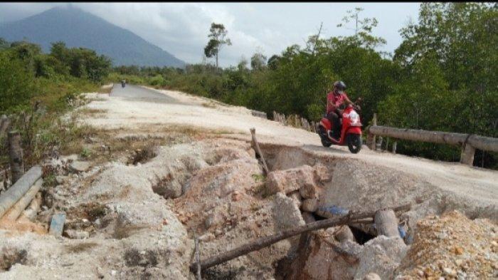 Kondisi Jembatan Sungai Pauh, Kabupaten Natuna, Provinsi Kepri.