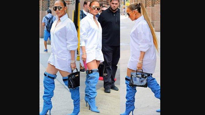 Penampilan Jennifer Lopez Jadi Sorotan, Sepatunya Mirip Celana Melorot