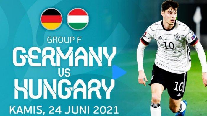 Live Streaming Jerman vs Hungaria EURO 2020 Malam Ini, Kick Off 02.00 WIB via TV Online