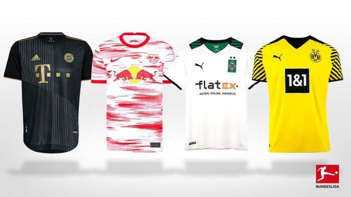 UPDATE Jersey Baru Klub Liga Jerman 2021-2022, Jersey Away Bayern Munchen, Jersey Home Dortmund