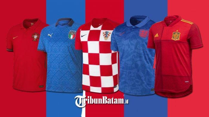 Jersey Tim Euro 2020, Jersey Inggris, Italia, Jerman, Jersey Kandang Ukraina Diprotes Rusia