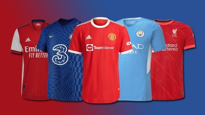 UPDATE Jersey Klub Liga Inggris 2021-2022, Jersey Kandang Chelsea, Arsenal, Man United, Liverpool