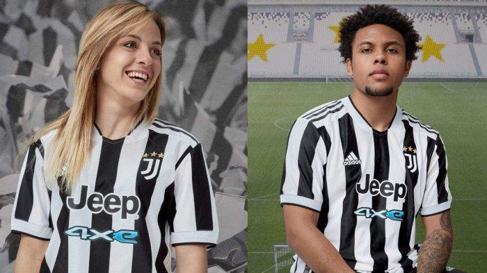 Jersey Home Juventus ( jersey kandang Juventus) untuk musim 2021-2022