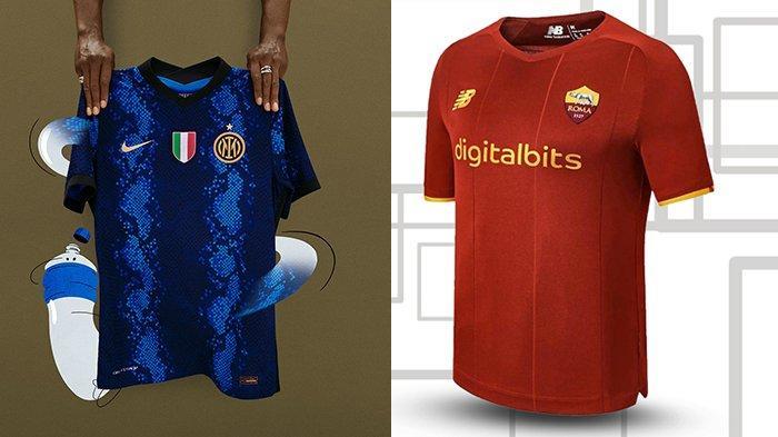 UPDATE Jersey Klub Liga Italia 2021-2022, Inter Milan dan AS Roma Kenalkan Jersey Kandang