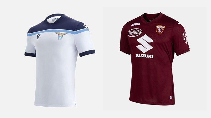 UPDATE Jersey Klub Liga Italia 2021-2022, Lazio Kenalkan Jersey Tandang, Torino 4 Jersey