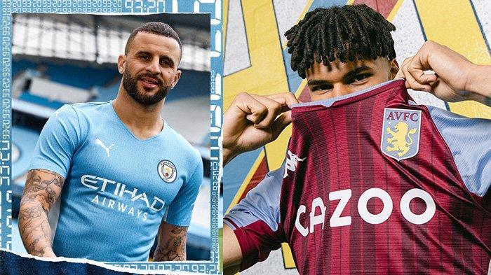 UPDATE Jersey Klub Liga Inggris 2021-2022, Manchester City dan Aston Villa Kenalkan Jersey Kandang