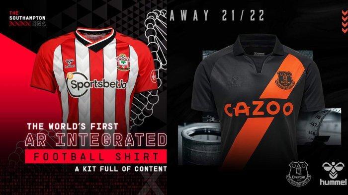 UPDATE Jersey Baru Klub Liga Inggris 2021-2022, Jersey Kandang Southampton, Jersey Away Everton