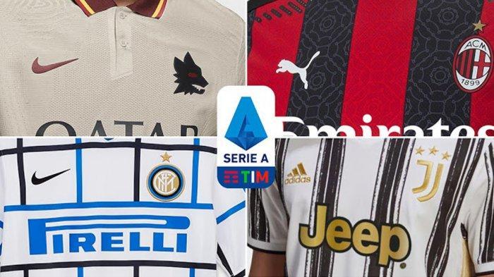 UPDATE Jersey Musim 2020 -  2021 Liga Italia, Inter Milan & AS Roma Resmi, Milan Launching Hari ini