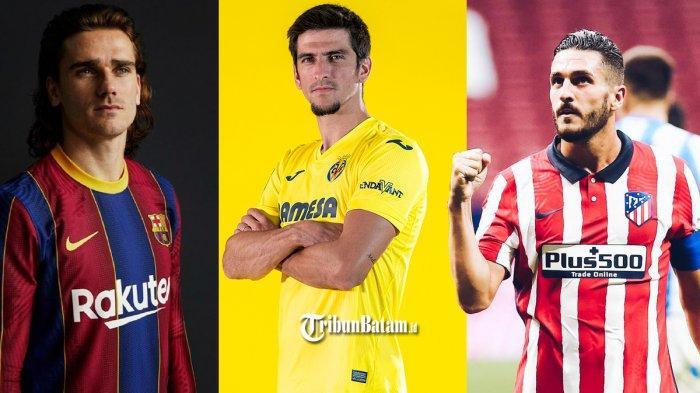 UPDATE Jersey 2020 - 2021 Liga Spanyol, Barcelona, Villarreal dan Ateltico Madrid Sudah Launching
