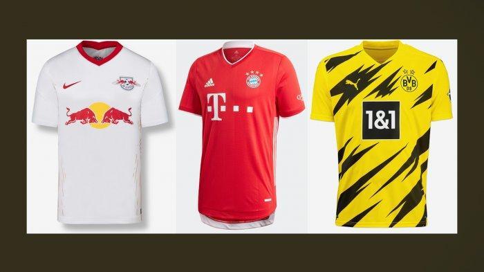 UPDATE Jersey Klub Liga Jerman Musim 2020/2021 - 18 Klub Sudah Luncurkan Jersey Home dan Away