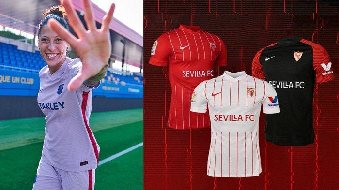 UPDATE Jersey Klub Liga Spanyol 2021-2022, Jersey Away Barcelona & Jersey Kandang Sevilla Dirilis