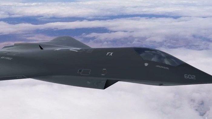 Jet tempur generasi keenam milik Angkatan Udara AS.